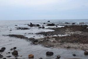 珠洲市のゴジラ岩