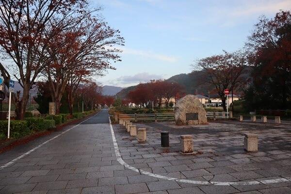 マキノ駅の道