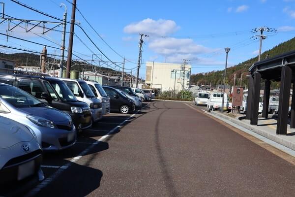 木ノ本駅駐車場東口の駐車場