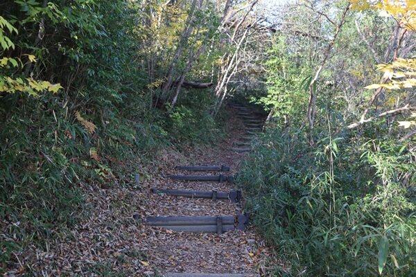 笹尾山の登山道