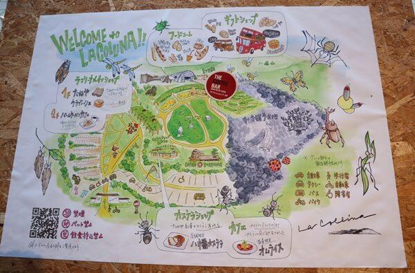 ラコリーナの地図