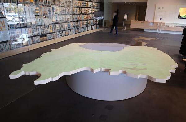 富山県の形のテーブル
