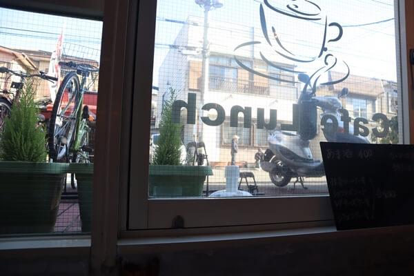 店内からの眺め