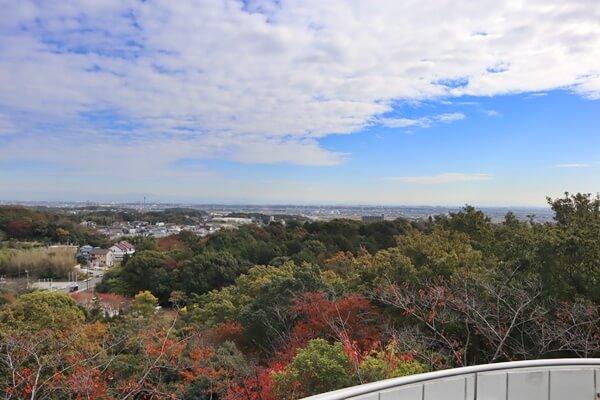 二村山展望台の景色